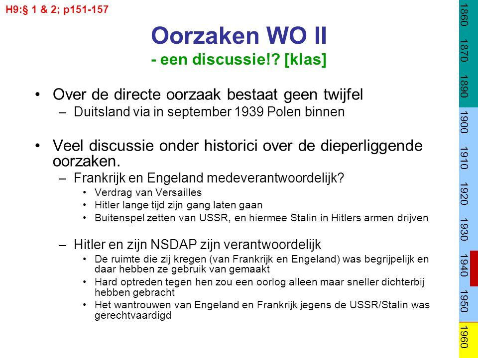 Oorzaken WO II - een discussie! [klas]